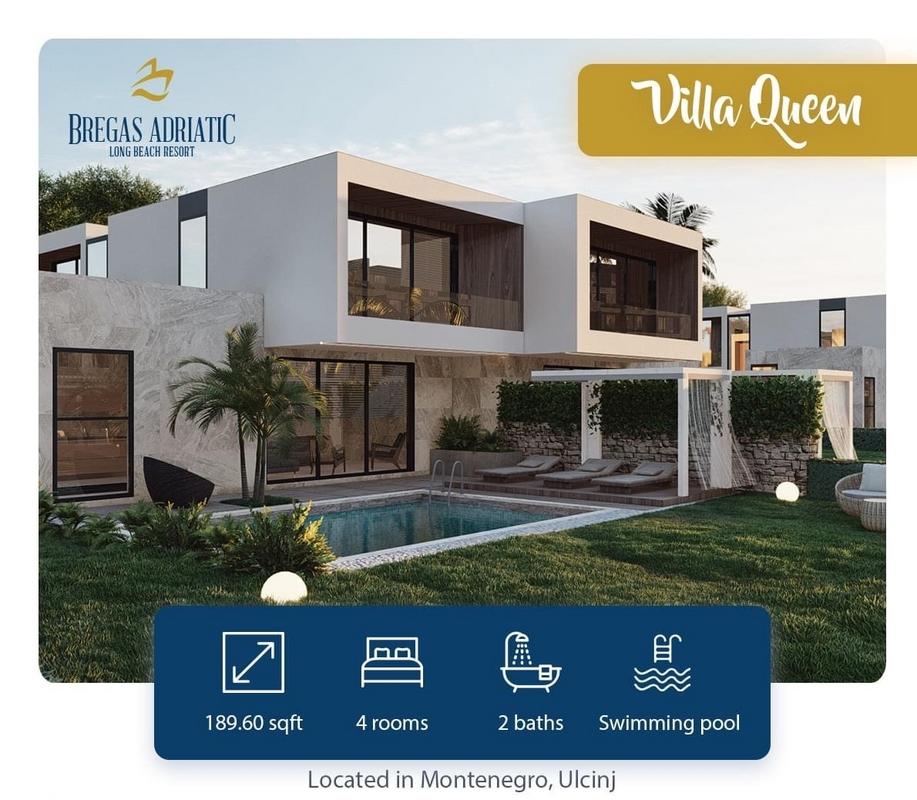 Vila ne shitje 189m2 tek resorti Bregas Adriatic ne Ulqin