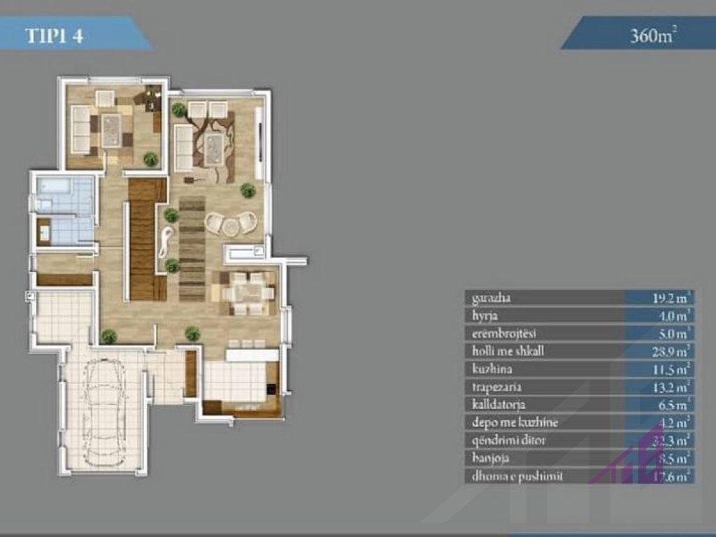 Shtepi ne shitje 360m2 ne Marigona Residence15