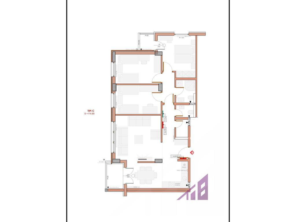 Banese per shitje 114.80 m2 ne Kalabri