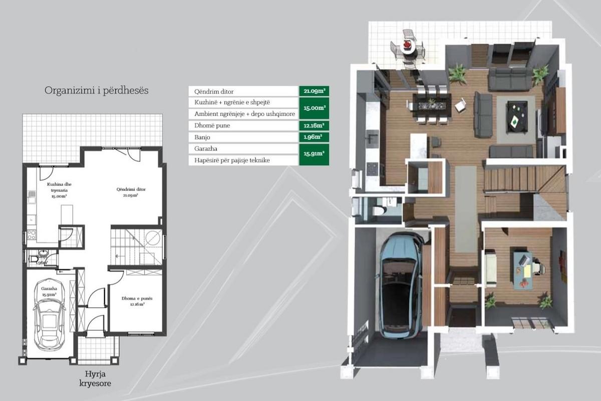 Shtëpi në shitje 213.26m2 në lagjen Peja Hill Residence  - Tipi B2