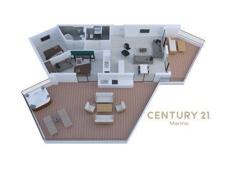 Prodaje se ekskluzivni penthouse u novoj zgradi u Tivtu