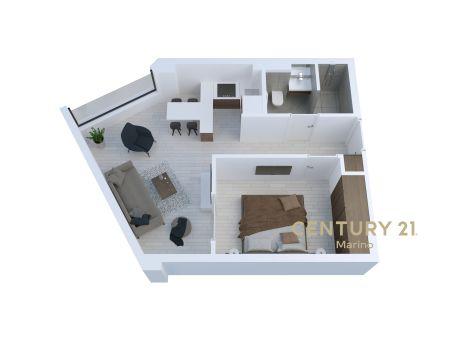 Prodaju se ekskluzivni jednosobni stambeni apartmani u novoj zgradi u Tivtu