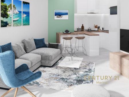 Prodaju se ekskluzivni jednosobni (dodatna opcija - galerija 22m2) stambeni apartmani u novoj zgradi u Tivtu