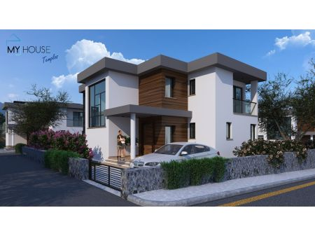 4+1 villa for sale in Kyrenia, Zeytinlik