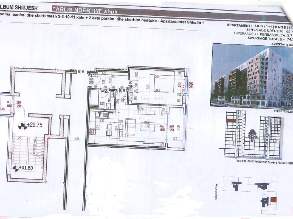 Shitet Apartament 1+1 Tek Square 21, Rruga E Kavajes