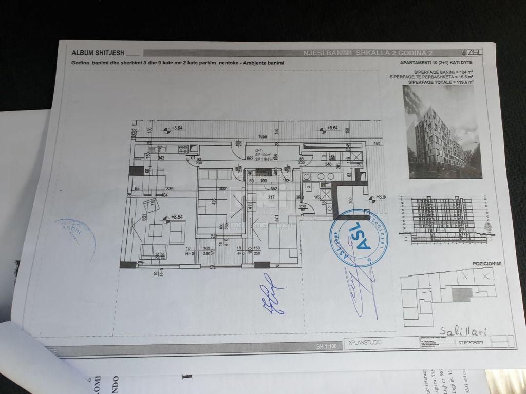 Shitet Apartamenti 2+1+2 Te Rezidenca ASL 8