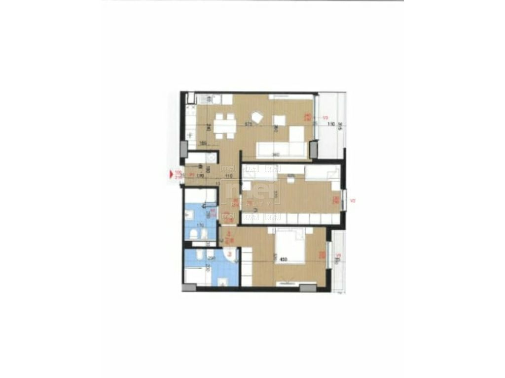 Tek Kompleksi Zirkon Shitet Apartament 2+1+2
