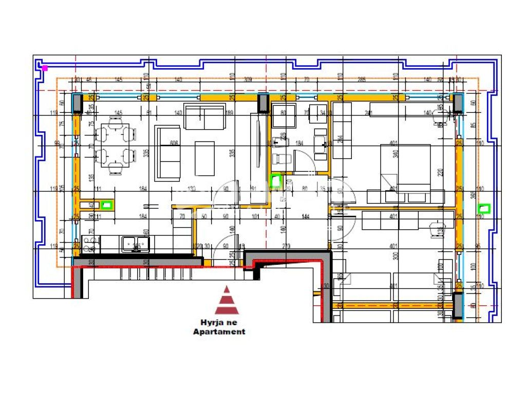 Apartment 2 + 1 with Sip. 126.3 m2 for Sale to Aviation Field