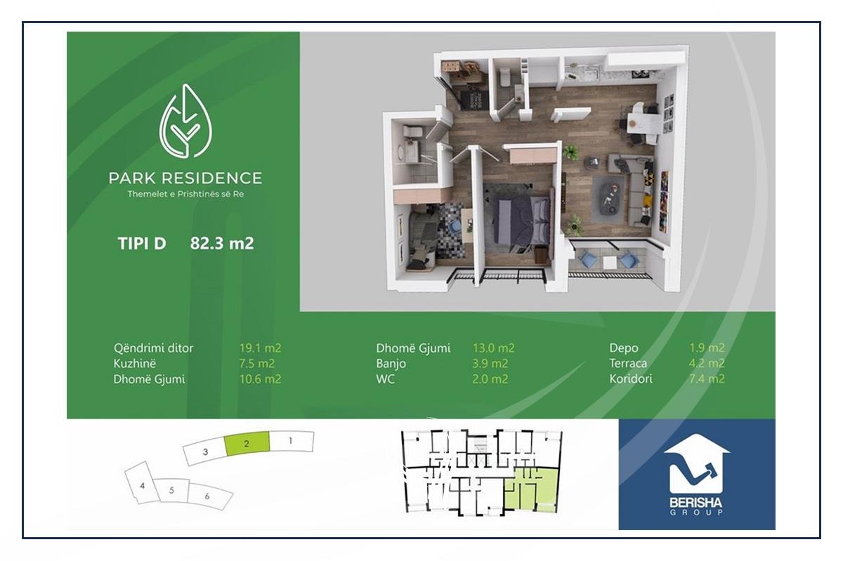 2 bedroom apartment for sale in Prishtina e Re neighborhood3