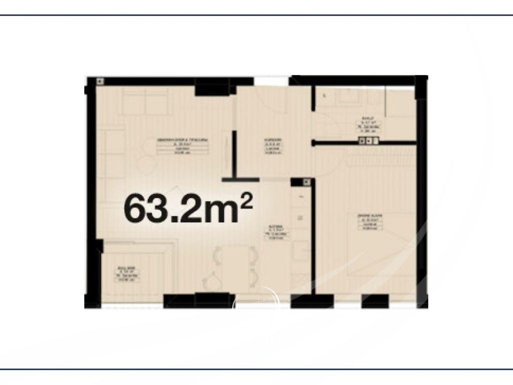 Banesë me 1 dhomë gjumi në shitje në lagjen Velania - tek Puhiza 34