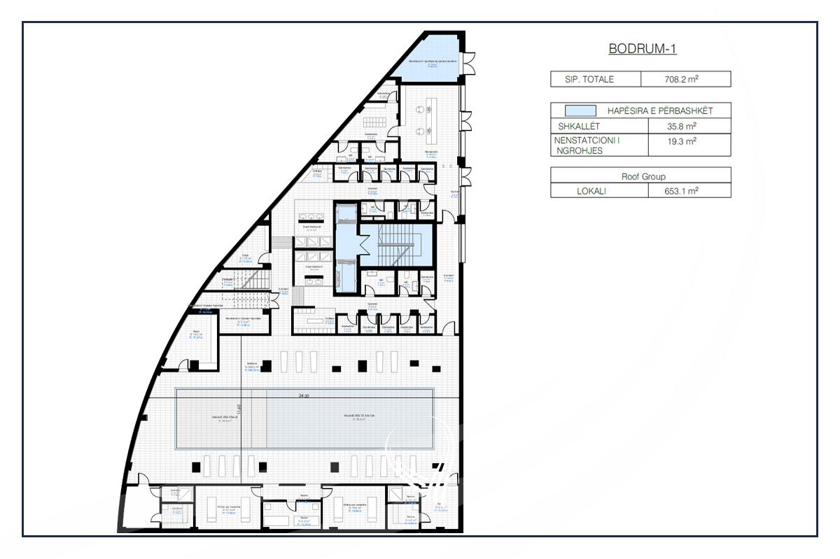 Lokal per Fitnes 1323.5 m2 me Qira në Prishtina e re - Hill Residence7