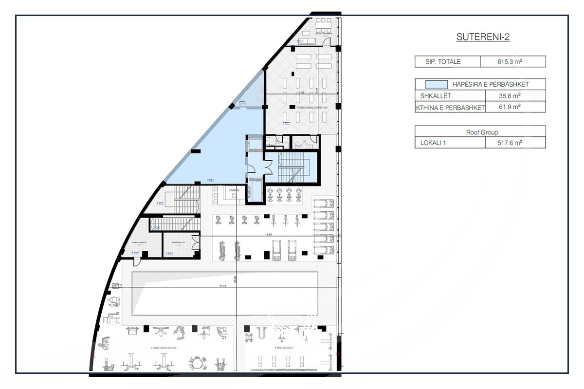 Lokal per Fitnes 1323.5 m2 me Qira në Prishtina e re - Hill Residence8