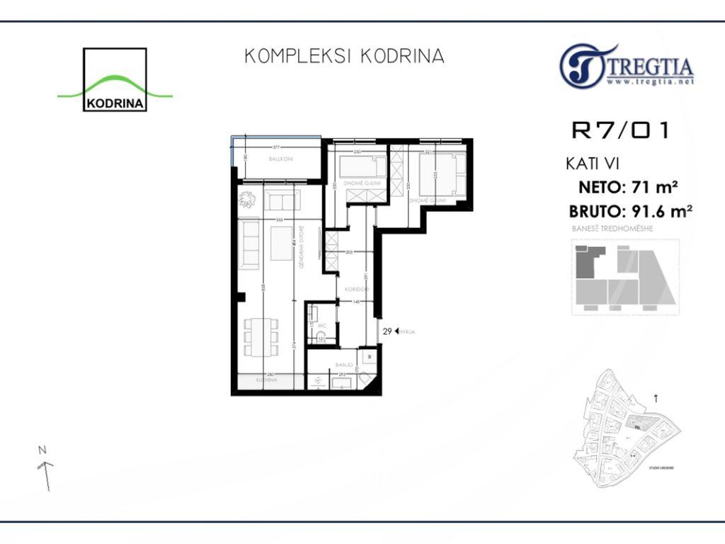 Banesë me 2 dhoma gjumi në shitje në lagjen Mati 1 – Kodrina4