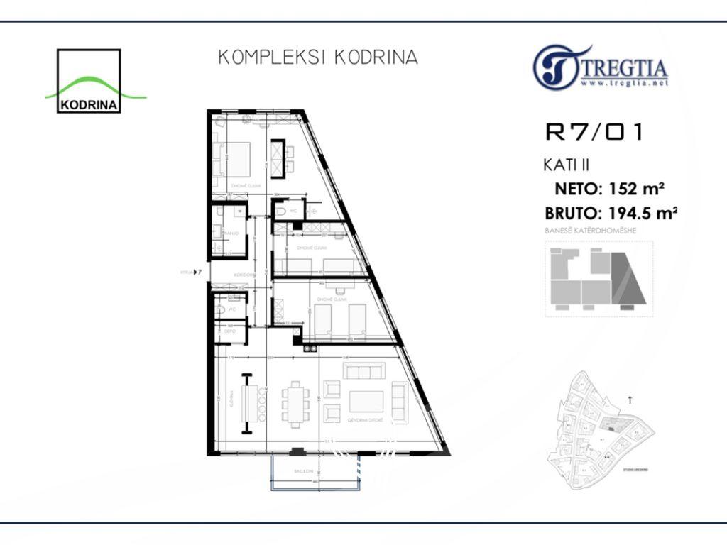 Banesë me 3 dhoma gjumi në shitje në lagjen Mati 1 – Kodrina4