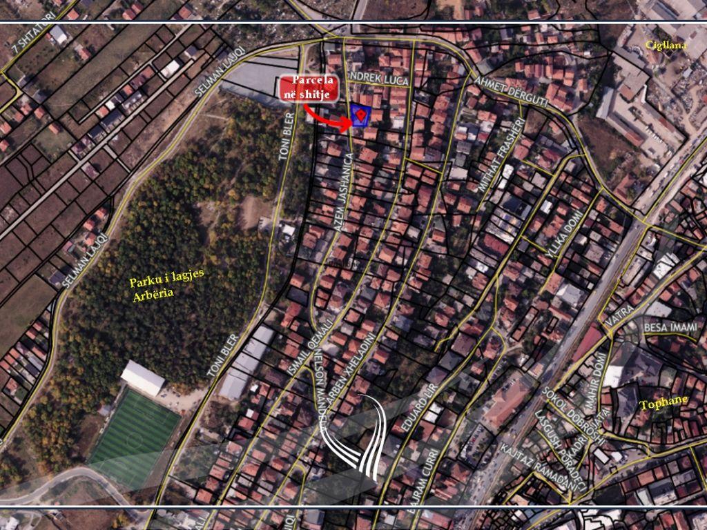 Shitet parcela 4.49ari në lagjen Arbëria (ish Dragodan)1